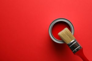 red interior paint gloss