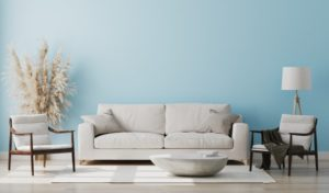 living room that follows color trends in interior paint